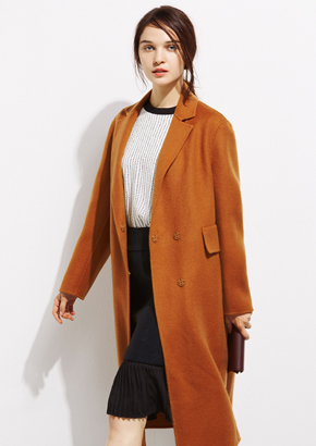 毛呢大衣女西装领直筒显瘦保暖