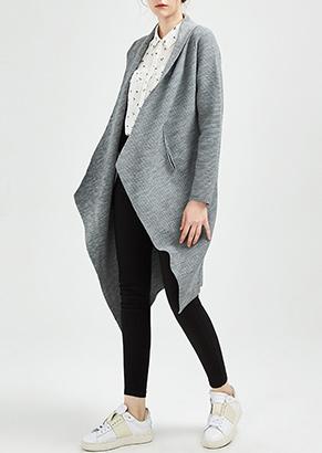 立领纯色毛呢外套女短款粉色长袖
